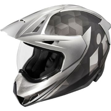 Icon Variant Pro Ascension Black Silver Motorcycle Motorbike Helmet - Large